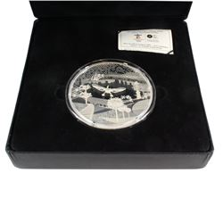 "2009 Vancouver Olympic Winter Games $250 Fine Silver Kilo (32.15oz.) ""Modern Games"" Canada (TAX Exem"