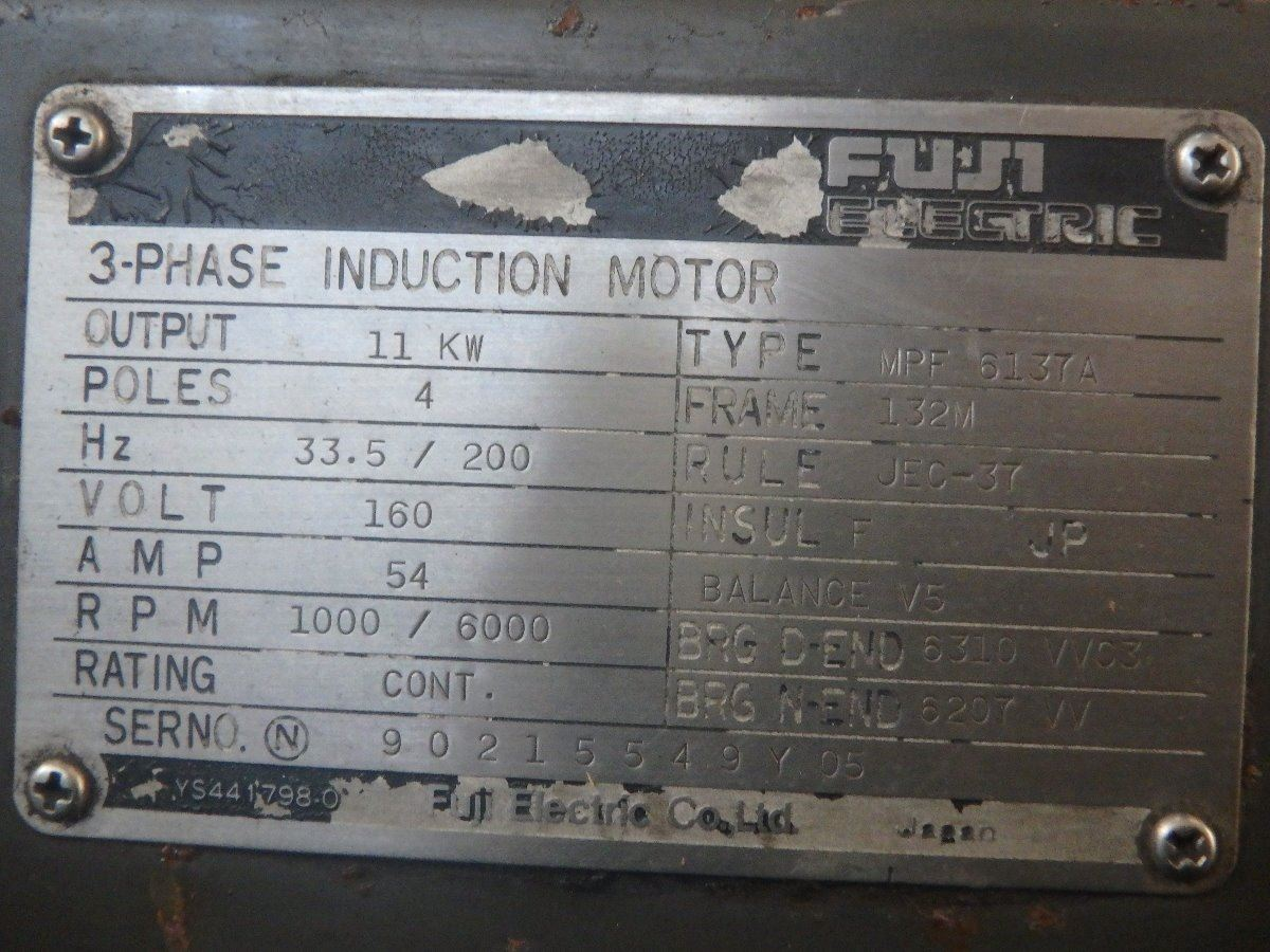 Fuji electric mpf 6137a 3 phase induction motor frame for 3 phase induction motor