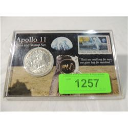 apollo 11 coin and stamp set