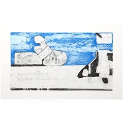 Richard Diebenkorn, Blue, Soft Ground Aquatint Etching
