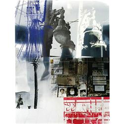 Robert Rauschenberg, Narcissus/ROCI USA (Wax Fire Works), Mixed Media on Stainless Steel