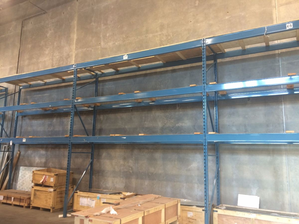 3 bays of blue 15ft pallet racking price per bay must for 3 bays