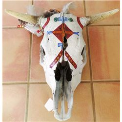 Painted Steer Skull
