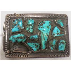 Sterling Silver and Turquoise Buckle