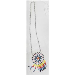 Beaded Necklace and Pendant