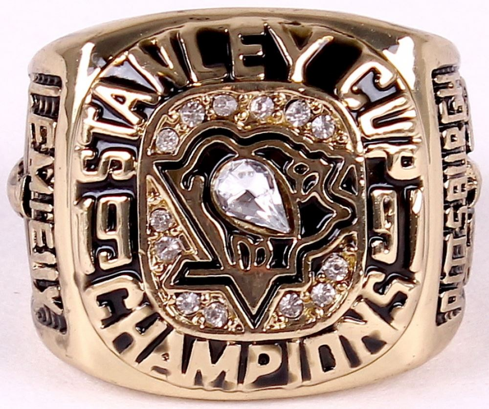 Image 1 Mario Lemieux Penguins High Quality Replica 1991 Stanley Cup Championship Ring