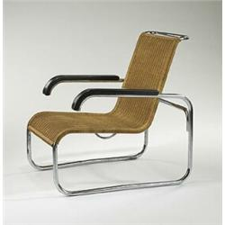 Bon Marcel Breuer, B35 Lounge Chair, Thonet, Germany, C. 1928, Chrome Steel,  Lacquered Wood, .