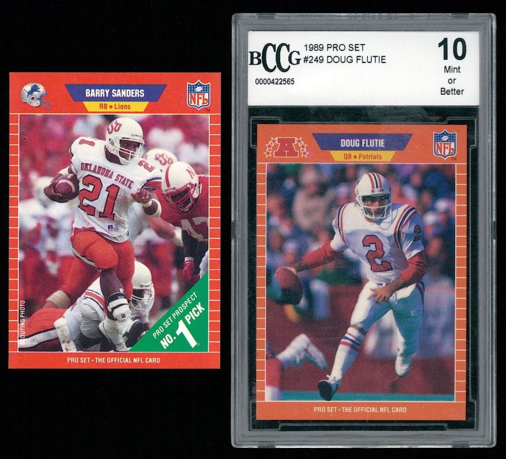 Image 1 Lot Of 2 1989 Pro Set Football Cards With 494