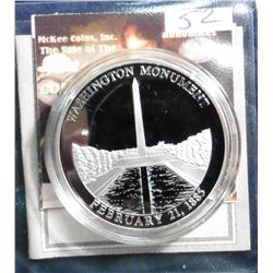 2008 Symbols of Freedom Medal - Washington Monument. Material: .999 fine Silver; Quality: Proof; Dia