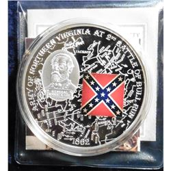 2009 Civil War Battle Flags - Battle of Bull Run. Material: Cu silver-plated with padprint; Quality: