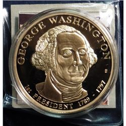 "2009 ""Presidential Dollar Trials - George Washington Trial Coin. Material: Cu, layered in 24k Gold;"