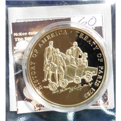 2009 The Birth of Our Nation - Treaty of Paris Medal. Material: Cu, layered in 24k Gold; Quality: Pr