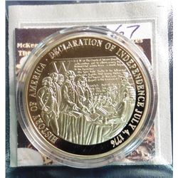 2009 The Birth of Our Nation - American Independence Medal. Material: Cu, layered in 24k Gold; Quali