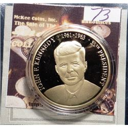 2008 Greatest American Presidents - John F. Kennedy. Material: Cu, layered in 24k Gold; Quality: Pro