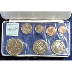 1969 New Zealand Polished Coin Set from the Mint in original box of issue. (7 pcs.).