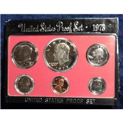 1973 S U.S. Proof Set. Complete with Eisenhower Dollar. Original as issued.