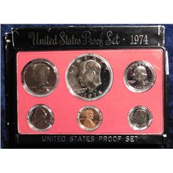 1974 S U.S. Proof Set. Complete with Eisenhower Dollar. Original as issued.