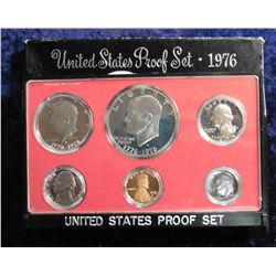 1976 S U.S. Proof Set. Complete with 1976 S T. Two Eisenhower Dollar. Original as issued.