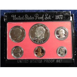 1977 S U.S. Proof Set. Complete with Eisenhower Dollar. Original as issued.