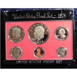 1978 S U.S. Proof Set. Complete with Eisenhower Dollar. Original as issued.