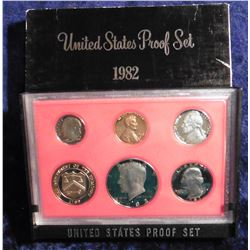 1982 S U.S. Proof Set. Original as issued.
