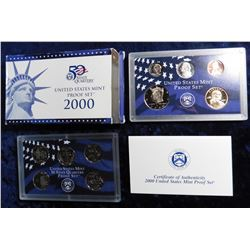 2000 S U.S. Proof Set. Original as issued with State Quarter and all.