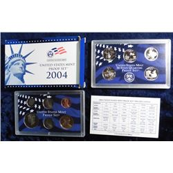 2004 S U.S. Proof Set. Original as issued with State Quarter and all.