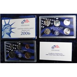2006 S U.S. Proof Set. Original as issued with State Quarter and all.