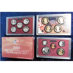 2010 S U.S. Silver Proof Set. Original as issued with State Quarter and all.