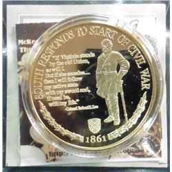 2009 Civil War Inspirations - South Responds Robert E. Lee. Material: Cu, layered in 24k Gold; Quali