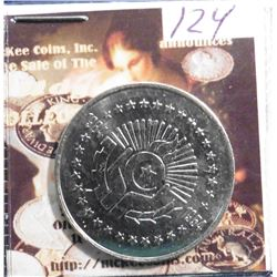 1984-1954 Algeria Five Dinars. Thirtieth Anniversary of Revolution. KM114. Gem BU.