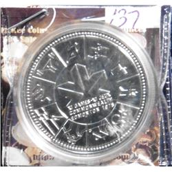 1978 XI Commonwealth Edmonton Games, Canada Prooflike Silver Dollar. Encapsulated.
