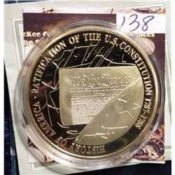 2009 The Birth of Our Nation - U.S. Constitution Coin Medal. Material: Cu, layered in 24k Gold; Qual