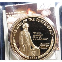 2009 Civil War Inspirations - War Aims of the Confederacy. Material: Cu, layered in 24k Gold; Qualit