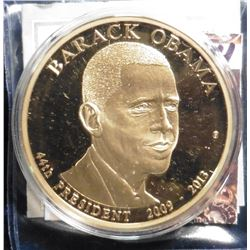 "2009 ""Presidential Dollar Trials - Barack Obama Trial Coin. Material: Cu, layered in 24k Gold; Quali"