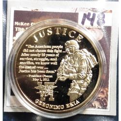 2011 American Mint Medal The American Spirit Remembering 9/11 - Justice- Operation Geronimo Coin. Ma