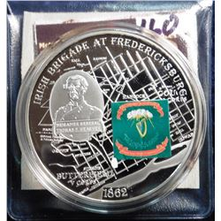 2009 Civil War Battle Flags - Irish Brigade at Fredericksburg. Material: Cu silver-plated with padpr