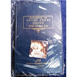"1970 Twenty-seventh Edition ""Handbook of United States Coin with Premium List"", by R.S. Yeoman."