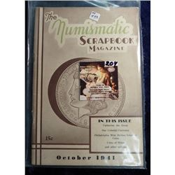 """October 1941 """"The Numismatic Scrapbook"""". With articles on Catherine the Great, Colonial Currency, an"""