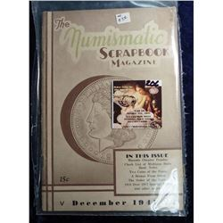 """December 1941 """"The Numismatic Scrapbook"""". With articles on Masonic Chapter Pennies, Michigan State B"""
