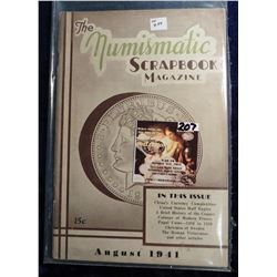"""August 1941 """"The Numismatic Scrapbook"""". With articles on China's Currency, Papal Coins, & Christina"""