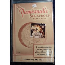 "February 20 1951 ""The Numismatic Scrapbook"". With articles on Coins, Tokens, and medals."