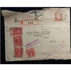 1939 Stamped and cancelled Postal Cover from Zurich Exposition Nationale Suisse. Pre-World War II.