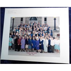 "1946-1996 Ottumwa High School 8"" x 10"" photo with all participants identified. Mint condition."