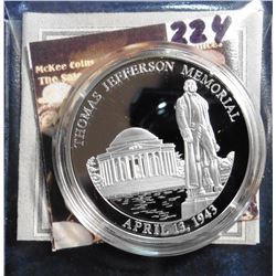 2008 Symbols of Freedom Medal - Jefferson Memorial. Material: .999 fine Silver; Quality: Proof; Diam