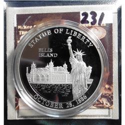 2008 Symbols of Freedom Medal - Ellis Island. Material: .999 fine Silver; Quality: Proof; Diameter: