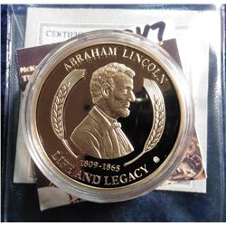2011 Life of Abraham Lincoln - Antietam 1862 Medal. Material: Cu, layered in 24k Gold; Quality: Proo