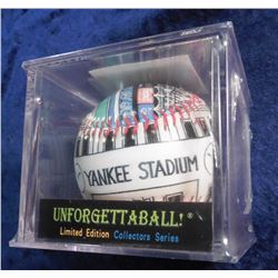 """Unforgettaball"" Collectable Hand Designed Baseball. Yankee Stadium."