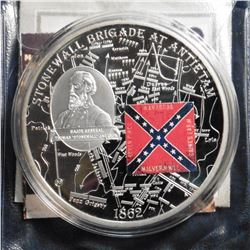 2009 Civil War Battle Flags - Stonewall Brigade at Antietam. Material: Cu silver-plated with padprin