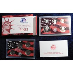 2003 S U.S. Silver Proof Set. Original as issued.